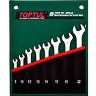 Набор комбинированных ключей «Toptul» GRAW0801 8-22 мм, 15°.