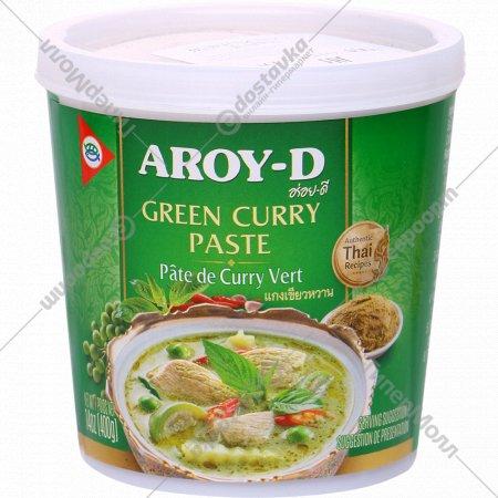 Паста «Aroy-D» карри зеленая, 400 г.