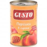 Персики консервированные «Gusto» стерилизованные, 425 г.