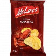 Чипсы «Mclar's» со вкусом лобстера, 75 г.