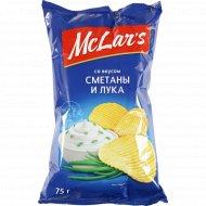 Чипсы «Mclar's» со вкусом сметаны и лука, 75 г.