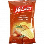 Чипсы «Mclar's» со вкусом крылышек барбекю, 75 г.