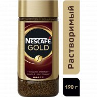 Кофе растворимый «Nescafe Gold» с добавлением молотого, 190 г.