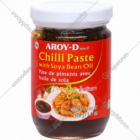 Паста «Aroy-D» чили с соевым маслом, 260 г.