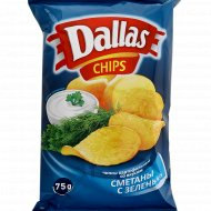 Картофельные чипсы «Dаllas» сметана с зеленью, 75 г.