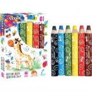 Набор цветных карандашей «deVente» Jumbo 3 in 1, 8077016, 6 цветов
