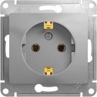 Розетка «Schneider Electric» Glossa, GSL000343, серебристый