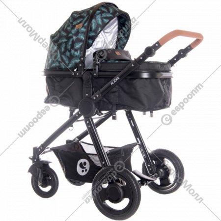 Детская коляска «Lorelli» Alexa 2 в 1 Black Leaves.