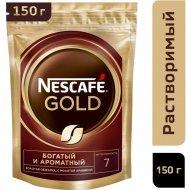 Кофе растворимый «Nescafe» Gold, с добавлением молотого, 150 г.