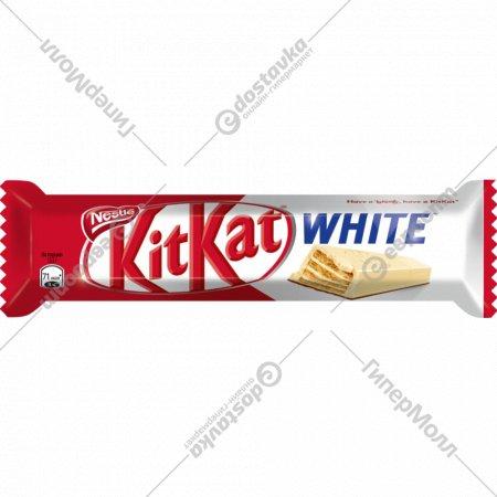 Шоколад белый и молочный «Kitkat White» с хрустящей вафлей, 40 г.