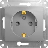 Розетка «Schneider Electric» Glossa, GSL000345, серебристый