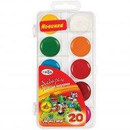 Краски акварельные «Мультики» 20 цветов, без кисти.