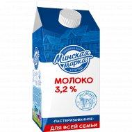 Молоко «Минская марка» пастеризованное 3.2 %, 1.5 л.