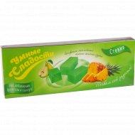 Конфеты желейные ананас-зеленая груша 90 г.