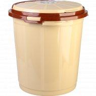 Ведро пластмассовое с крышкой для мусора 35 л.