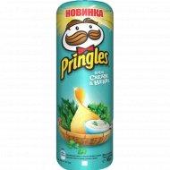 Чипсы «Pringles» сметана и зелень, 165 г .