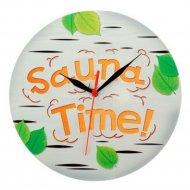 Часы настенные «Банные» в деревянном корпусе 23х23 см.