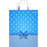 Мешок с ручками «Синий бантик в клеточку» 35х28 см
