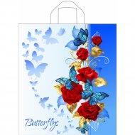 Мешок с ручками «Синие бабочки» 42х38см.