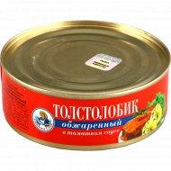 Консервы рыбные «Толстолобик обжаренный» в томатном соусе, 240 г.