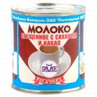 Молоко сгущенное «Рогачевъ» с сахаром и какао 7.5%, 380 г.