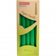 Набор свечей «Provence» 560107/72 зеленый, 24x2 см, 10 штук
