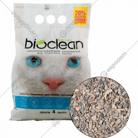 Наполнитель «Bioclean» cупервпитывающий для кошек, 4 л.