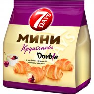 Мини круассаны «7 Days» с двойной начинкой «ваниль-вишня» 200 г