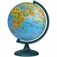 Глобус зоогеографический 25 см на круглой подставке.