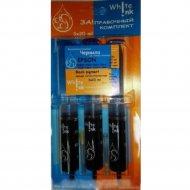 Заправочный комплект «White Ink» Universal HP/Canon/Lexmark Black pigment, 3x20 мл.