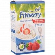 Каша овсяная «Fitberry» клубника со сливками, 6 х 35 г