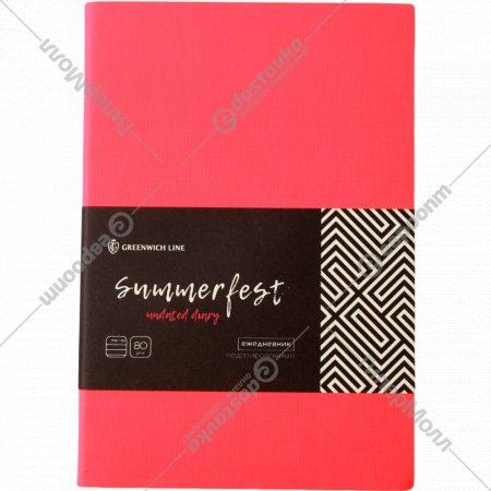 Ежедневник «Summerfest» недатированный, В6, 160 листов.