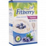 Каша овсяная «Fitberry» с черникой, 6 х 35 г