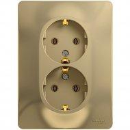 Блок розеточный «Schneider Electric» Glossa, GSL000424, золотистый