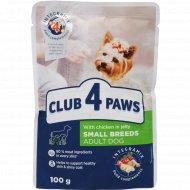 Корм для собак «Club 4 paws» с курицей в желе, 100 г.
