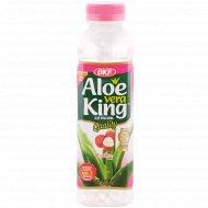 Напиток безалкогольный «Aloe Vera» с ароматом личи, 500 мл.