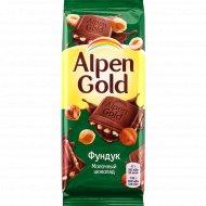 Шоколад молочный «Alpen Gold» фундук, 85 г