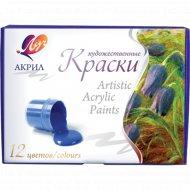 Краски акриловые «Луч» художественные, 12 цветов.