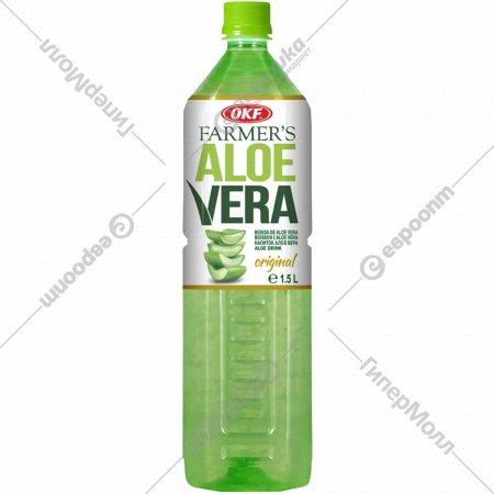 Напиток безалкогольный «Фермерская» негазированный, алоэ вера, 1.5 л.
