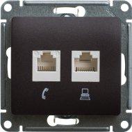Розетка компьютерная «Schneider Electric» Glossa, GSL000885KK, шоколад