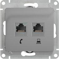 Розетка телефонная+ПК «Schneider Electric» Glossa, GSL000385