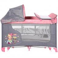 Манеж кровать «Lorelli» Travelling Pink.