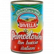 Томаты «Divella» Pomodorini con Buccia, в собственном соку, 400 г.