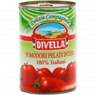 Томаты целые «Divella» в собственном соку, 400 г.