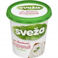 Сыр творожный «Cавушкин Sveza» воздушный с зеленью, 60%, 150 г.