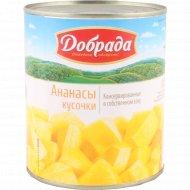 Ананасы консервированные «Добрада» кусочки, 830 г.
