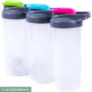 Бутылка-шейкер пластмассовая «Belbohemia» Q82-700, 700 мл, в ассортименте