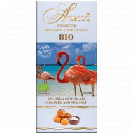 Шоколад молочный «Ameri» с карамелью и морской солью, 100 г.