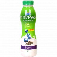 Питьевой йогурт «Оптималь» черника-чиа, 2%, 415 г.