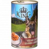 Консервированный корм для собак «King» с говядиной, 1240 г.